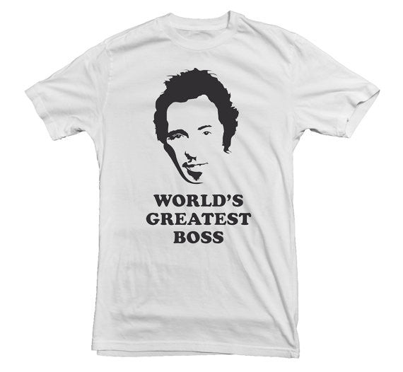 Bruce Springstein T-shirt World's Greatest Boss - Dicky Ticker