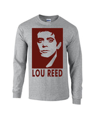 Lou Reed T-shirt Red Face - Dicky Ticker