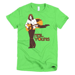 Neil Young Ladies T-shirt Harvest - Dicky Ticker  - 10