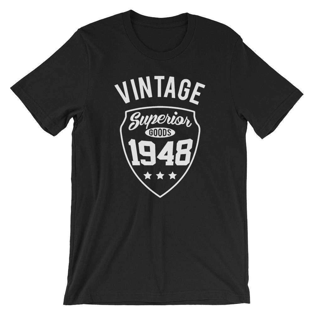 70th Birthday Gifts For Men Vintage Premium 1948 T Shirt Mens Navy Blue