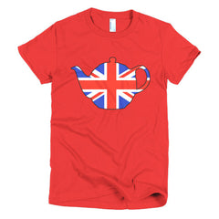 Union Jack Teapot Ladies T-shirt - Dicky Ticker  - 19