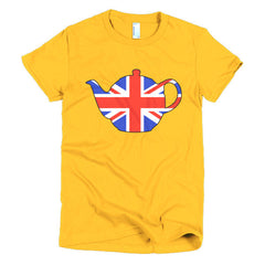 Union Jack Teapot Ladies T-shirt - Dicky Ticker  - 17