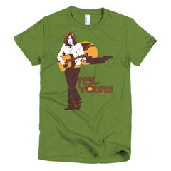 Neil Young Ladies T-shirt Harvest - Dicky Ticker  - 4