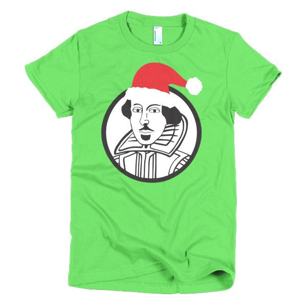 Shakespeare Ladies T-shirt Xmas - Dicky Ticker  - 1