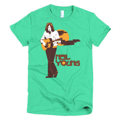 Neil Young Ladies T-shirt Harvest - Dicky Ticker  - 12