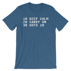 Commodore 64 T-shirt BASIC Keep Calm And Carry On