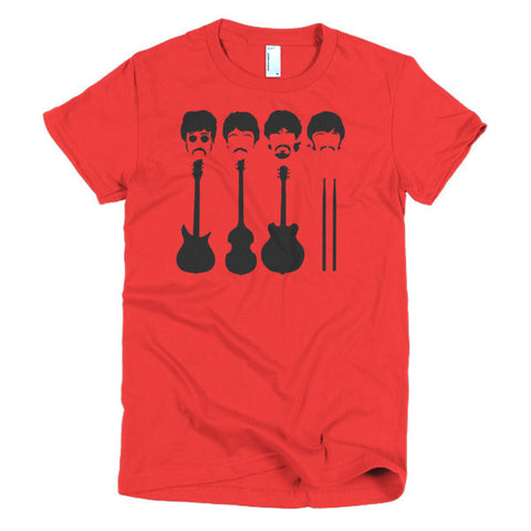 Beatles Ladies T-shirt Instruments
