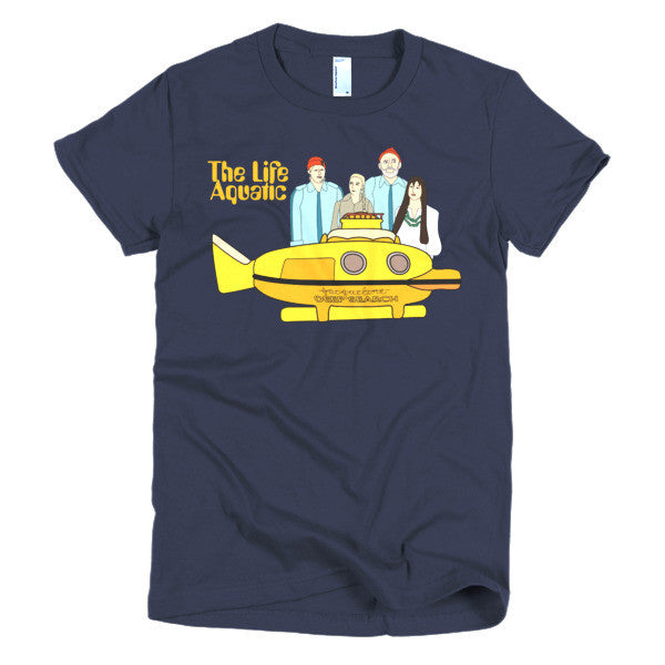 Life Aquatic Ladies T-shirt Team Zissou - Dicky Ticker  - 1