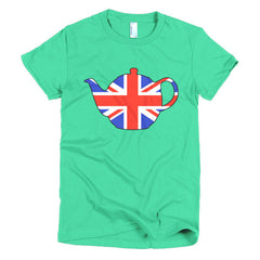 Union Jack Teapot Ladies T-shirt - Dicky Ticker  - 10