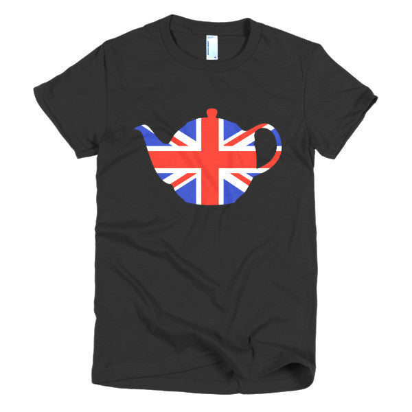 Union Jack Teapot Ladies T-shirt - Dicky Ticker  - 1