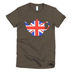 Union Jack Teapot Ladies T-shirt - Dicky Ticker  - 4