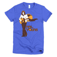 Neil Young Ladies T-shirt Harvest - Dicky Ticker  - 14