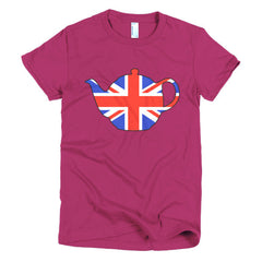 Union Jack Teapot Ladies T-shirt - Dicky Ticker  - 18