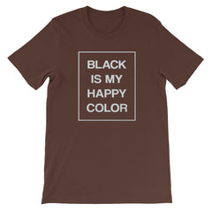 Black Is My Happy Colour Goth T-shirt