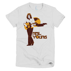 Neil Young Ladies T-shirt Harvest - Dicky Ticker  - 2