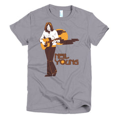 Neil Young Ladies T-shirt Harvest - Dicky Ticker  - 8