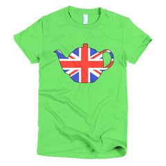 Union Jack Teapot Ladies T-shirt - Dicky Ticker  - 8