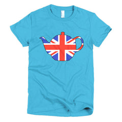 Union Jack Teapot Ladies T-shirt - Dicky Ticker  - 14