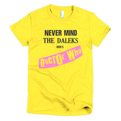 Never Mind The Dalek's Here's Dr Who Ladies T-shirt Sex Pistols - Dicky Ticker  - 15