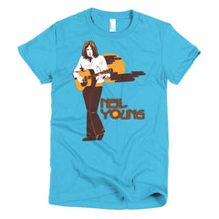 Neil Young Ladies T-shirt Harvest - Dicky Ticker  - 15