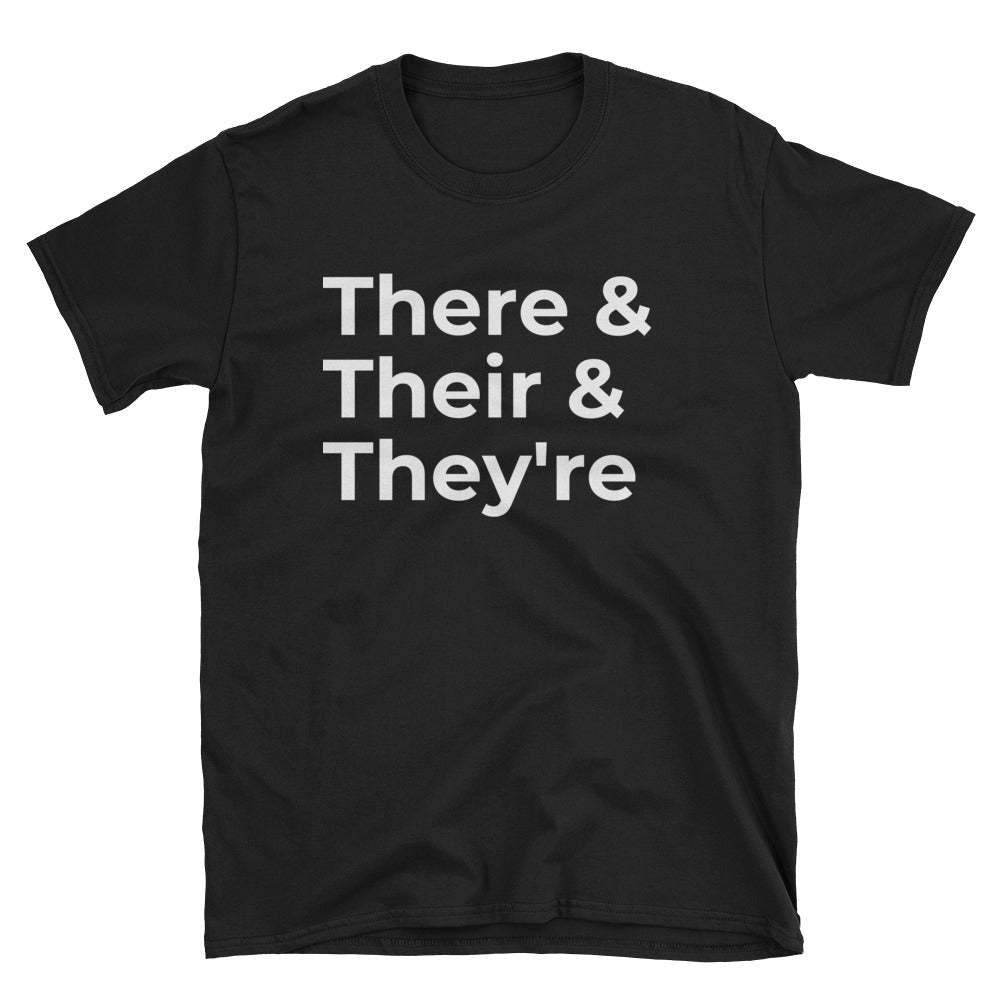 Grammer T-shirt There & Their & They're