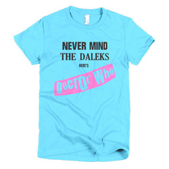 Never Mind The Dalek's Here's Dr Who Ladies T-shirt Sex Pistols - Dicky Ticker  - 12