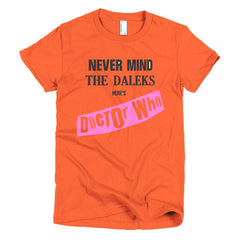 Never Mind The Dalek's Here's Dr Who Ladies T-shirt Sex Pistols - Dicky Ticker  - 16