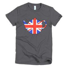 Union Jack Teapot Ladies T-shirt - Dicky Ticker  - 3