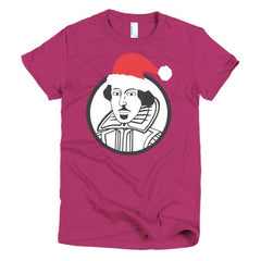 Shakespeare Ladies T-shirt Xmas - Dicky Ticker  - 18
