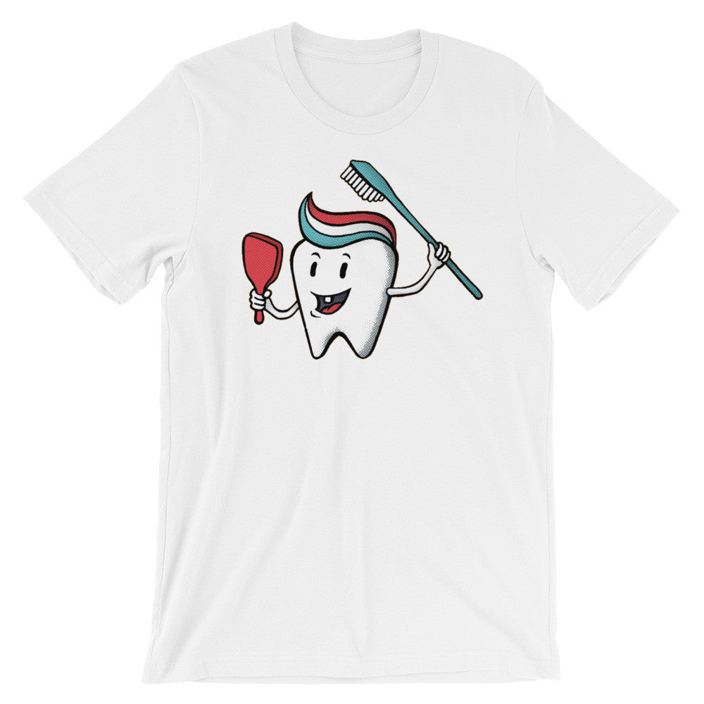 Toothbrush T-shirt Mirror Quiff Dentist