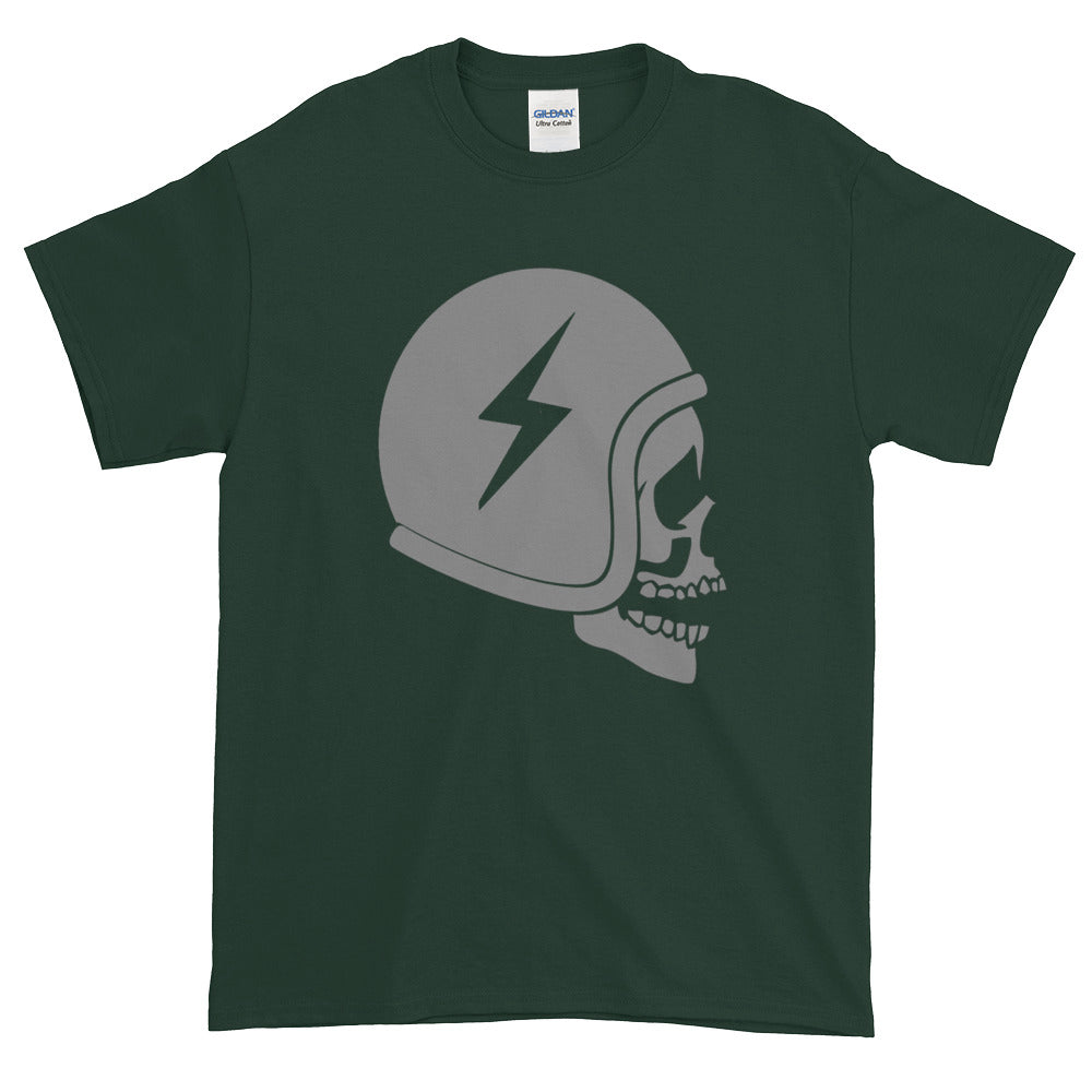 Skull Motorcycle Club T-shirt Flash Helmet
