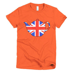 Union Jack Teapot Ladies T-shirt - Dicky Ticker  - 16