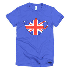 Union Jack Teapot Ladies T-shirt - Dicky Ticker  - 11
