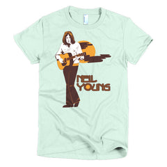 Neil Young Ladies T-shirt Harvest - Dicky Ticker  - 11