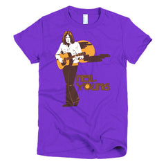 Neil Young Ladies T-shirt Harvest - Dicky Ticker  - 9