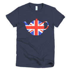 Union Jack Teapot Ladies T-shirt - Dicky Ticker  - 6