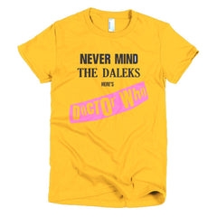 Never Mind The Dalek's Here's Dr Who Ladies T-shirt Sex Pistols - Dicky Ticker  - 17