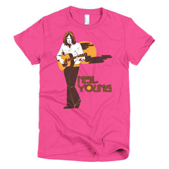 Neil Young Ladies T-shirt Harvest