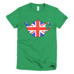 Union Jack Teapot Ladies T-shirt - Dicky Ticker  - 7