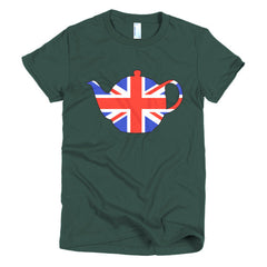 Union Jack Teapot Ladies T-shirt - Dicky Ticker  - 5