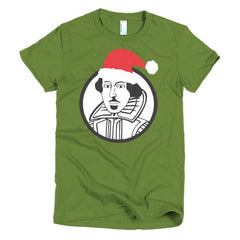 Shakespeare Ladies T-shirt Xmas - Dicky Ticker  - 4