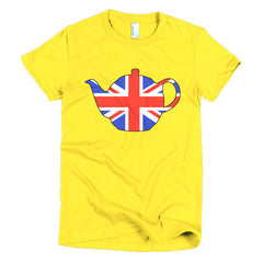 Union Jack Teapot Ladies T-shirt - Dicky Ticker  - 15