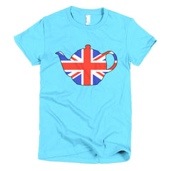 Union Jack Teapot Ladies T-shirt - Dicky Ticker  - 12