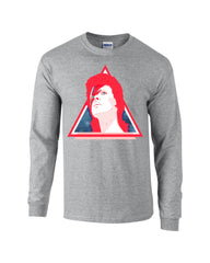 Triangle Bowie Long Sleeve T-shirt - Dicky Ticker