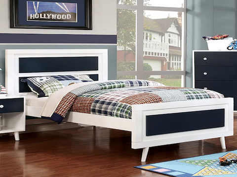Alivia Collection Duo Plank Panel Bed