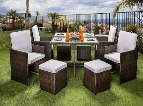 Keisha 9PC Patio Set