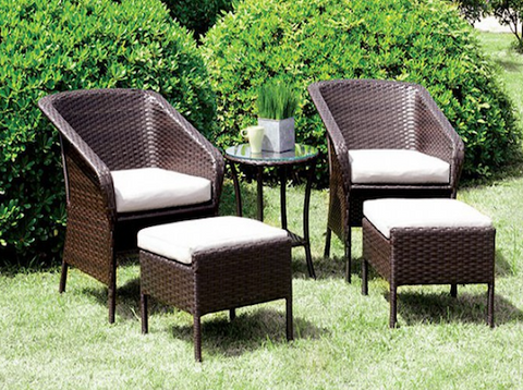 Malinda 5PC Patio Sitting Set
