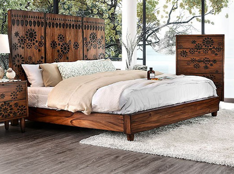 Amarantha Wooden Flora Bed