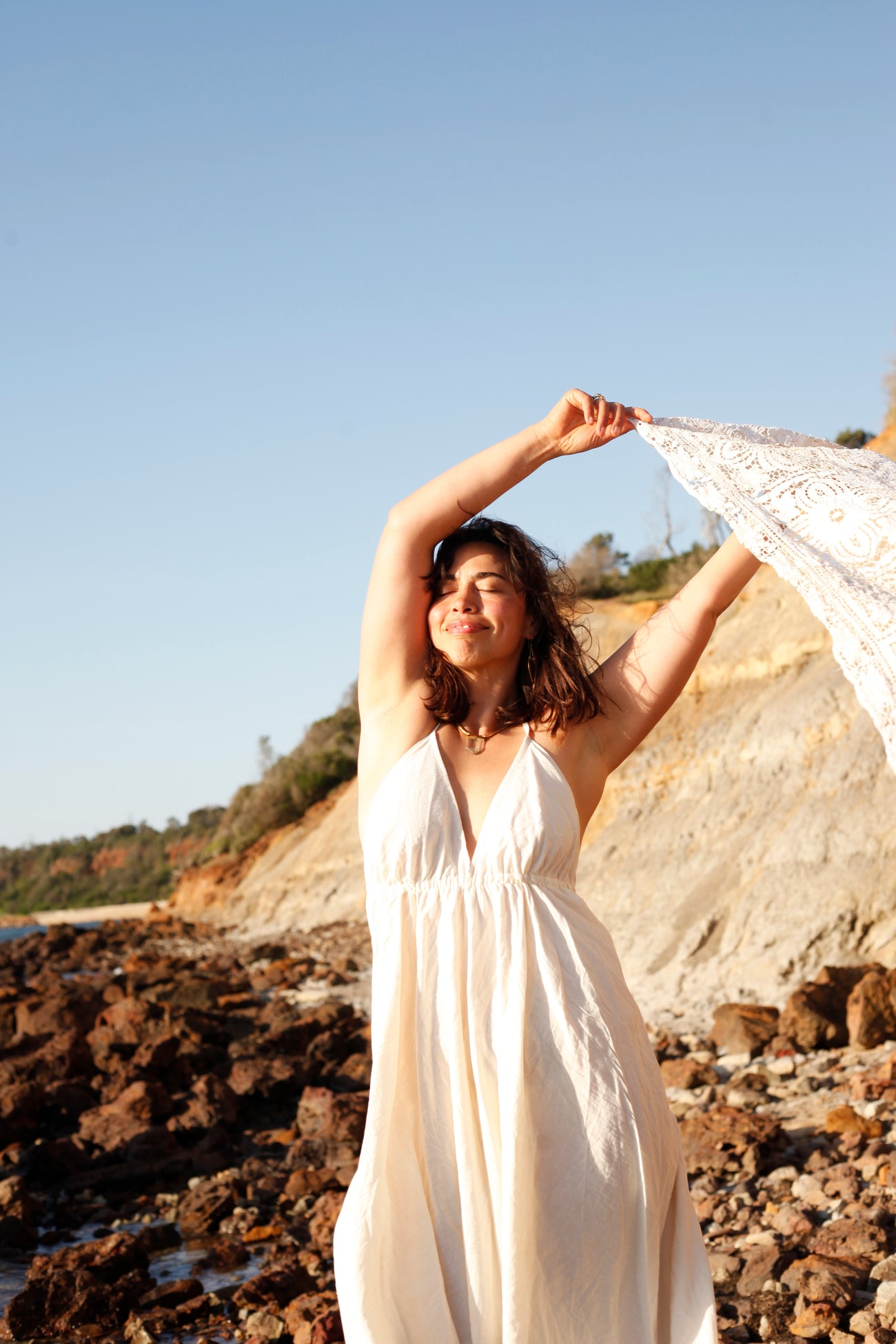 {HEMP} Inner Sanctuary V-Neck Dress