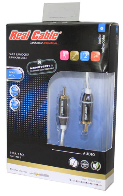 Ultra Thin Micro Nano Sub Nanotech Subwoofer Cable By Real
